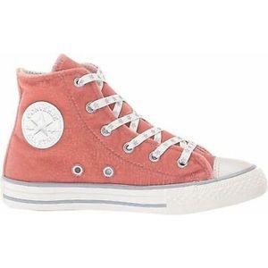 High Top Pink Velvet Converse